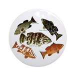 5 Grouper Ornament (Round)