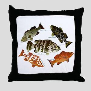 5 Grouper Throw Pillow