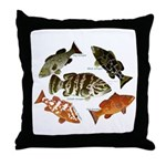 5 Grouper Throw Pillow