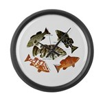 5 Grouper Large Wall Clock
