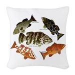 5 Grouper Woven Throw Pillow