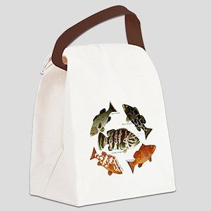 5 Grouper c Canvas Lunch Bag