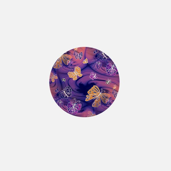 Flutterby Butterfly  Mini Button