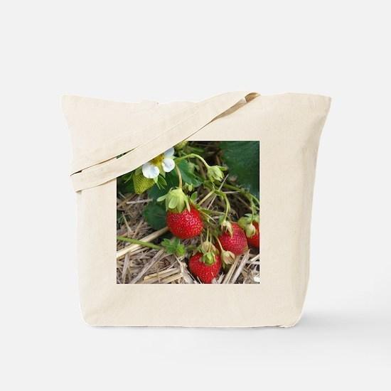 Strawberries in Summer Tote Bag