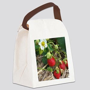 Strawberries in Summer Canvas Lunch Bag