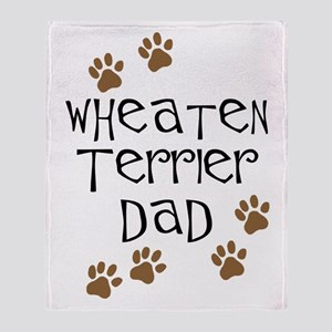 Wheaten Terrier Dad Throw Blanket