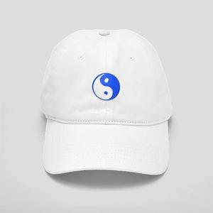 Shiny Blue Yin Yang Symbol Cap
