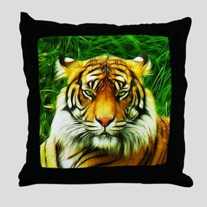 Tiger is Not Amused Throw Pillow