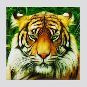 Tiger is Not Amused Tile Coaster