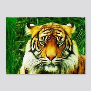 Tiger Is Not Amused 5'X7'Area 5'X7'Area Rug