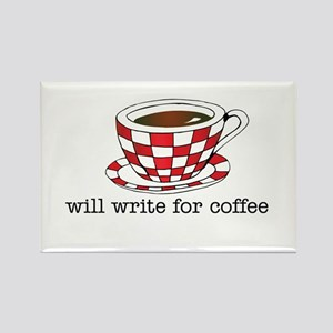 Will Write for Coffee Rectangle Magnet