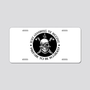 Prepare To Be Boarded Aluminum License Plate