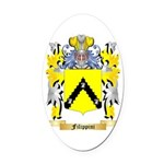 Filippini Oval Car Magnet