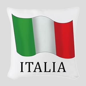 Italia Flag Woven Throw Pillow