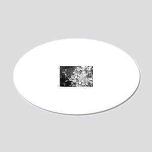 Leaves in a puddle 20x12 Oval Wall Decal