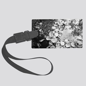 Leaves in a puddle Large Luggage Tag