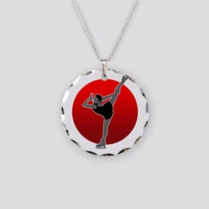 I Love Figure2 Necklace Circle Charm