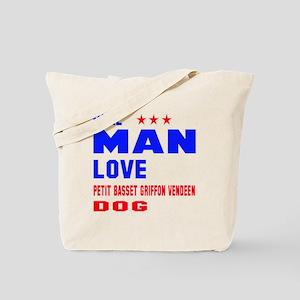 Real Man Love Petit Basset Griffon Vendee Tote Bag