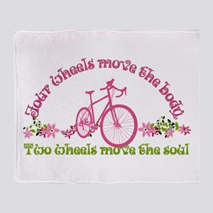 Two Wheels Move The Soul Throw Blanket