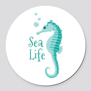 Sea Life Round Car Magnet