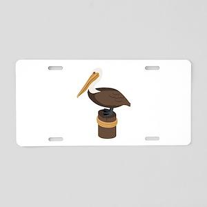 Brown Pelican Aluminum License Plate
