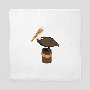 Brown Pelican Queen Duvet