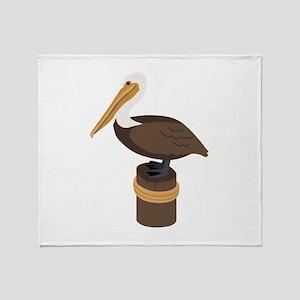 Brown Pelican Throw Blanket