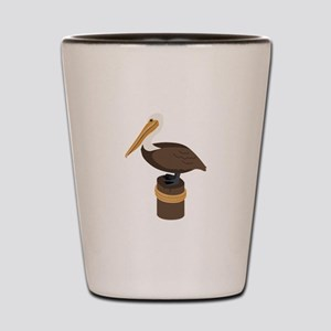 Brown Pelican Shot Glass