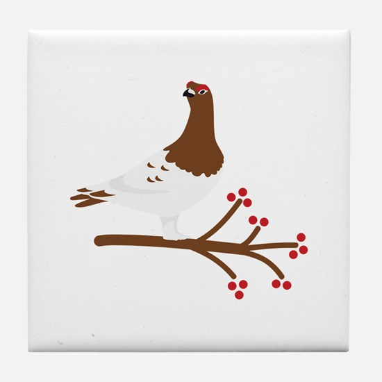 Willow Ptarmigan Tile Coaster