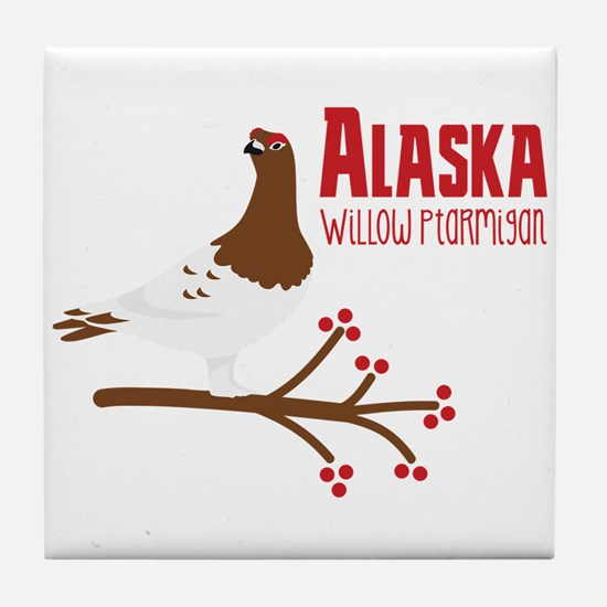 Alaska Willow Tile Coaster