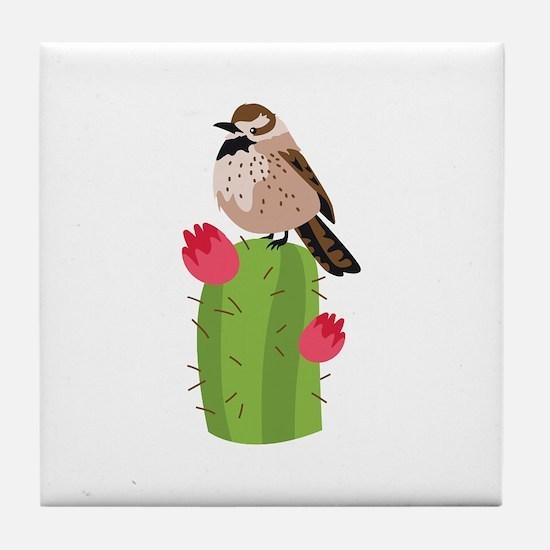 Cactus Wren Tile Coaster