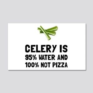 Celery Not Pizza Wall Decal