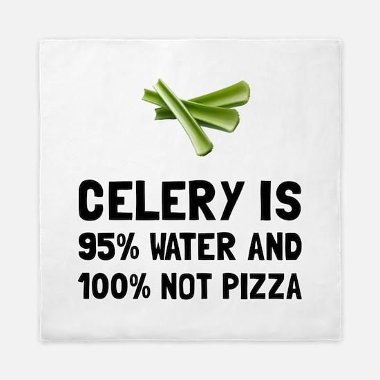 Celery Not Pizza Queen Duvet
