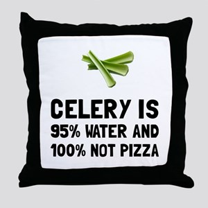 Celery Not Pizza Throw Pillow