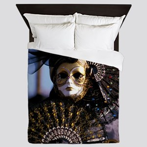 Venetian mask Queen Duvet