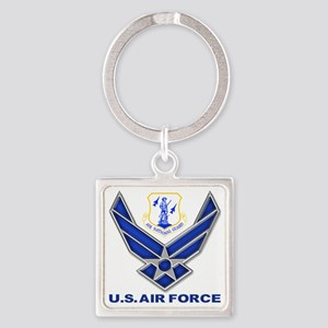 Air National Guard Square Keychain