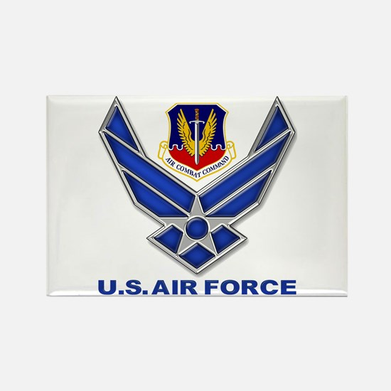 Air Combat Command Rectangle Magnet