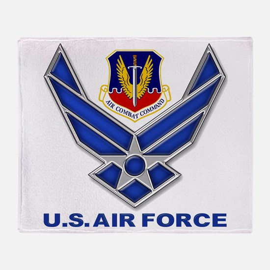Air Combat Command Throw Blanket