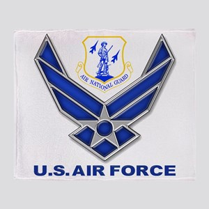 Air National Guard Throw Blanket