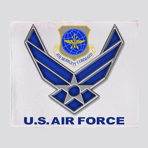 Air Mobility Command Throw Blanket