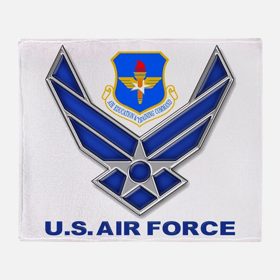 Air Education Command Throw Blanket