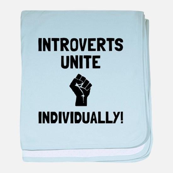 Introverts Unite baby blanket