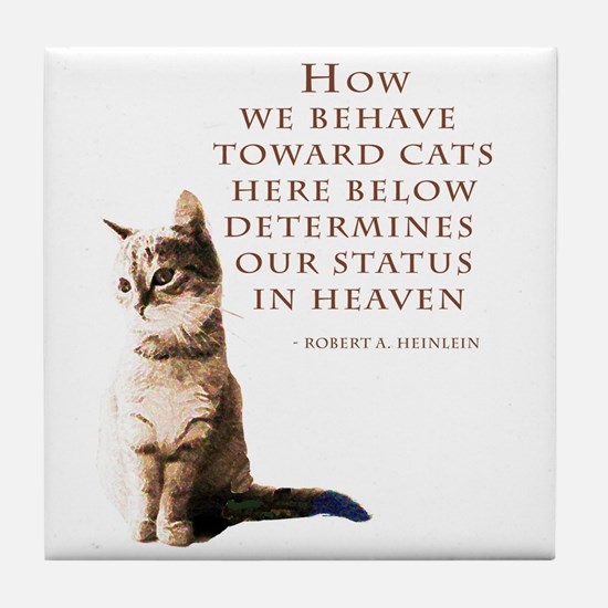 cats-and-heaven-card.jpg Tile Coaster