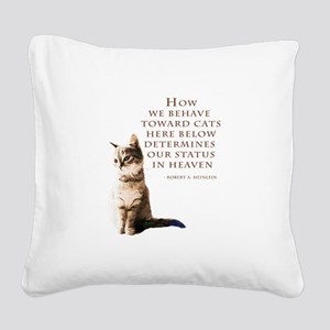 cats-and-heaven-card Square Canvas Pillow
