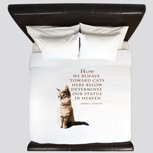 cats-and-heaven-card King Duvet
