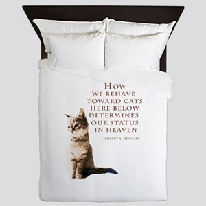 cats-and-heaven-card Queen Duvet
