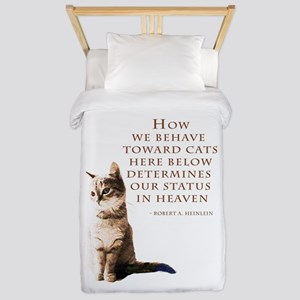 cats-and-heaven-card Twin Duvet