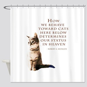 cats-and-heaven-card Shower Curtain