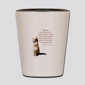 cats-and-heaven-card Shot Glass