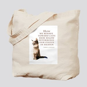 cats-and-heaven-card Tote Bag